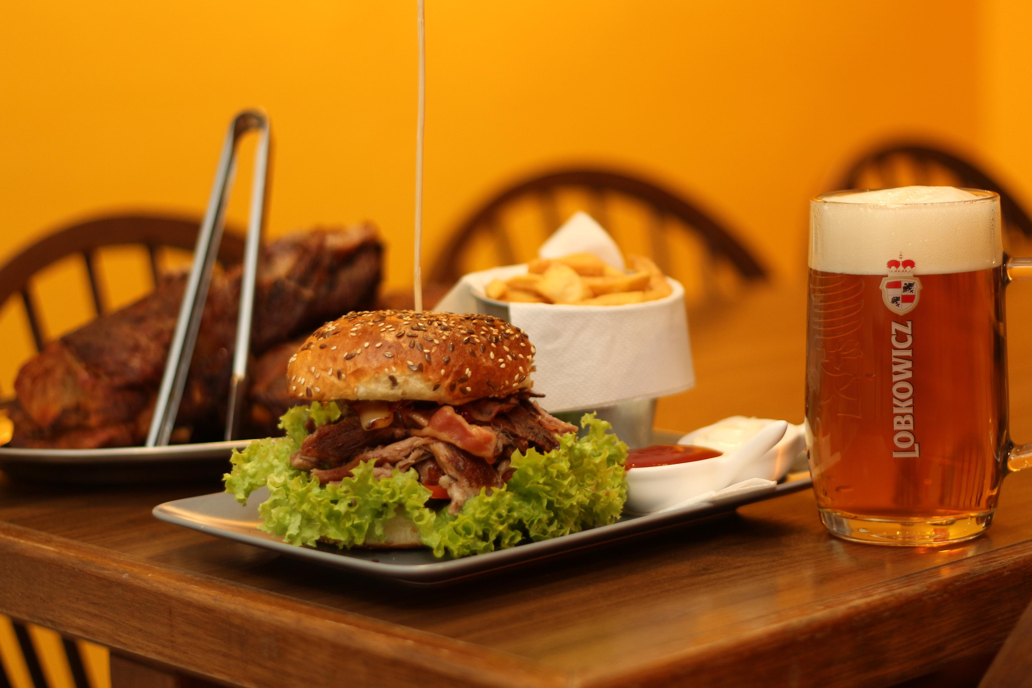 hard pork burger
